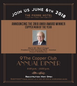 COPPER Annual Dinner 2018 WINNER2